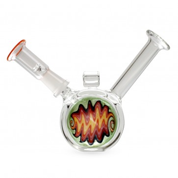 "4"" Dab Rig Reversal Bubbler - 10mm Male"
