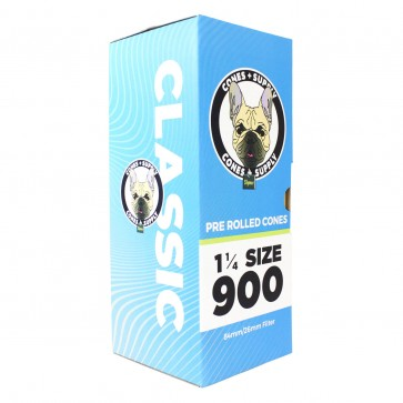 "CONES + SUPPLY Pre-Rolled Cones 84mm x 26mm - 1 1/4 "" - 900 Count"