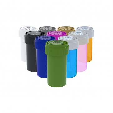 Assorted Colors Reversible Cap Vial 13 Dram - 275 Units/box