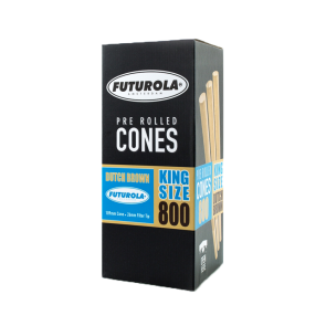 Futurola Dutch Brown Pre-Rolled Cones -King Size 109/26- 800 Count