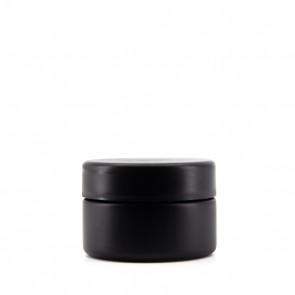 1OZ MATTE BLACK GLASS JAR + CR CAP - 200 CT