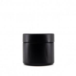2OZ MATTE BLACK GLASS JAR + CR CAP - 200 CT
