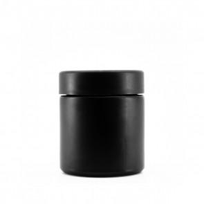 3OZ MATTE BLACK GLASS JAR + CR CAP - 150 CT