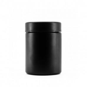 4OZ MATTE BLACK GLASS JAR + CR CAP - 100 CT