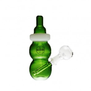 "7"" Green Baby Bottle Rig - 14mm"