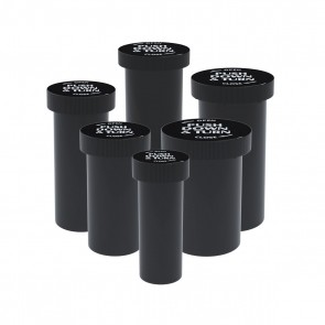 Push & Turn Cap Vial Black