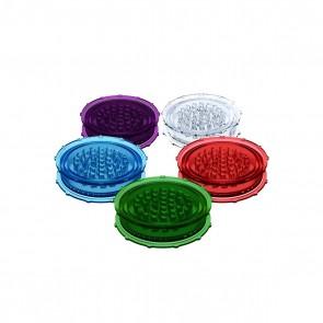 "Plastic 3"" 2pc Grinder - 100 pack"