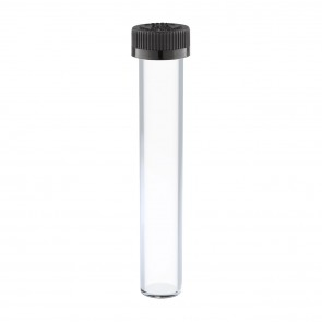 Glass Cone Tube - Tall & Wide with Child Resistant Black Cap - 144 units