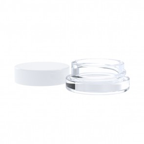 Glass Thick Wall Concentrate Container 7ml White Cap - 96 Units
