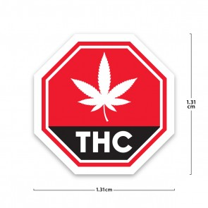 Health Canada Compliant Standardized Cannabis Symbol Labels - 1,000 Count