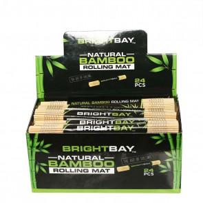 Brightbay Natural Bamboo Rolling Mat - 24 Units