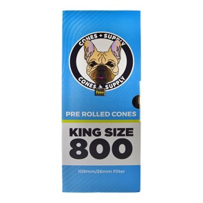 CONES + SUPPLY 109mm Pre-Rolled Cone King Size White -  800 Units