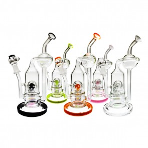 "Canadian wholesale Marijuana Packaging Smoke Shop and Dispensary Supply PURE 7.5"" Inline & Solaris Perc 10mm"