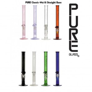 "Canadian wholesale Marijuana Packaging Smoke Shop and Dispensary Supply Pure Glass 18"" 44mmx4mm Straight Martini"