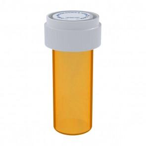 Amber Reversible Cap Vial 08 Dram - 410 Units/box