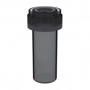 Transparent Black Reversible Cap Vial 08 Dram - 410 Units/box