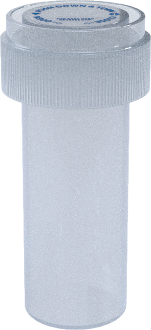08 DR REVERSIBLE VIAL - CLEAR - 410 CT