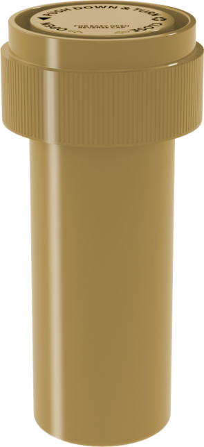 08 DR REVERSIBLE VIAL - OPAQUE GOLD - 410 CT