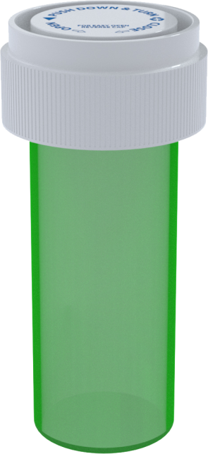 08 DR REVERSIBLE VIAL - GREEN - 410 CT