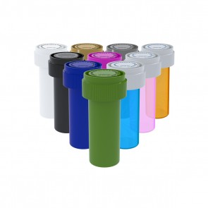 Assorted Colors Reversible Cap Vial 08 Dram - 410 Units/box