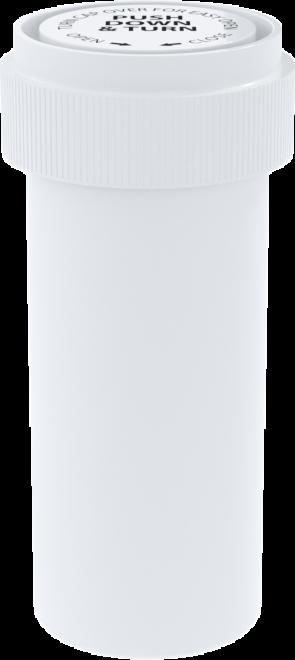 Opaque White Reversible Cap Vial 16 Dram - 230 Units/box