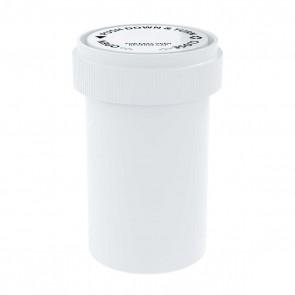 paque White Reversible Cap Vial 20 Dram - 240 Units/box