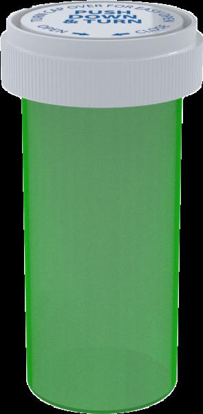Green Reversible Cap Vial 40 Dram - 150 Units/box