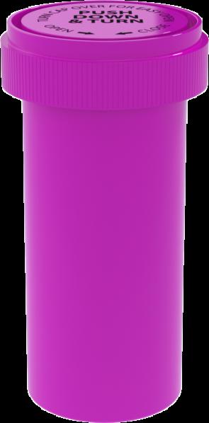 Opaque Pink Reversible Cap Vial 40 Dram - 150 Units/box