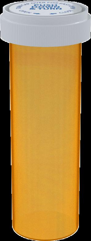 Amber Reversible Cap Vial 60 Dram - 100 Units/box