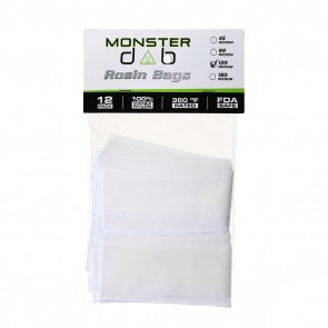 "2"" x 10"" 120 Micron Monster Dab Rosin Bag - 12 Units"