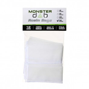 "2"" x 10"" 180 Micron Monster Dab Rosin Bag - 12 Units"