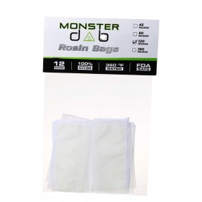 "2"" x 4"" 120 Micron Monster Dab Rosin Bag - 12 Units"