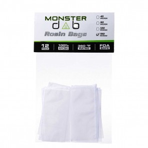 "2"" x 4"" 180 Micron Monster Dab Rosin Bag - 12 Units"