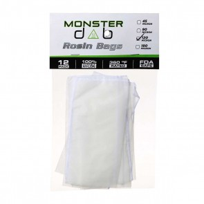"3"" x 6"" 120 Micron Monster Dab Rosin Bag - 12 Units"