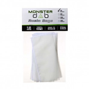 "3"" x 6"" 45 Micron Monster Dab Rosin Bag - 12 Units"