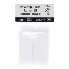 "2"" x 10"" 120 Micron Monster Dab Rosin Bag - 100 Units"