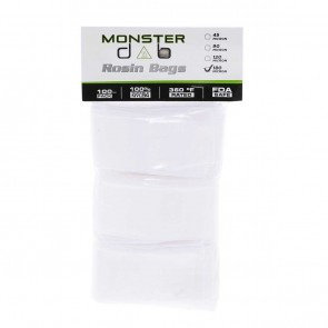 "2"" x 10"" 180 Micron Monster Dab Rosin Bag - 100 Units"