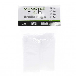 "2"" x 10"" 45 Micron Monster Dab Rosin Bag - 100 Units"