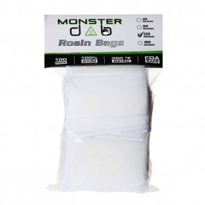 "2"" x 4"" 120 Micron Monster Dab Rosin Bag - 100 Units"