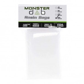 "3"" x 6"" 180 Micron Monster Dab Rosin Bag - 100 Units"
