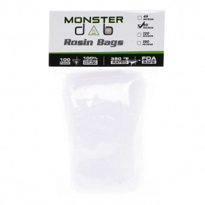 "3"" x 6"" 90 Micron Monster Dab Rosin Bag - 100 Units"
