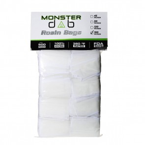 "2"" x 4"" 180 Micron Monster Dab Rosin Bag - 500 Units"