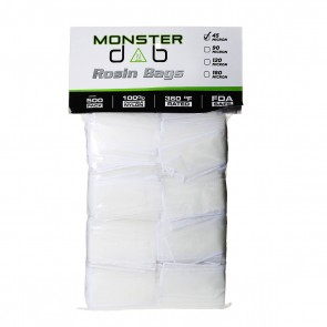 "2"" x 4"" 45 Micron Monster Dab Rosin Bag - 500 Units"