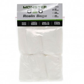 "3"" x 6"" 90 Micron Monster Dab Rosin Bag - 500 Units"