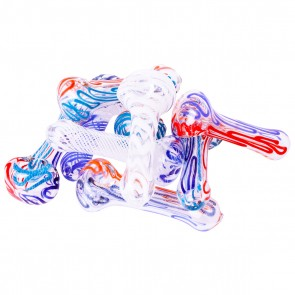 """4""""-5"""" Glass Pipe with Lines / Swirl mix - 10 units"""