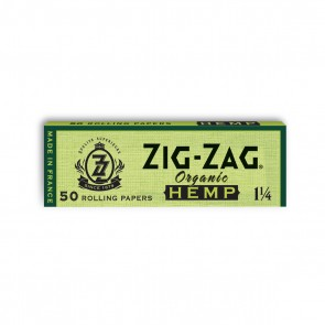 Zig Zag Organic Hemp Rolling Papers 1 1/4 - 25 units