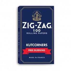 Zig Zag Blue Kutcorners Rolling Paper Single Wide - 25 units