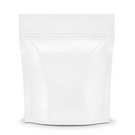 White Smell proof Mylar Bags