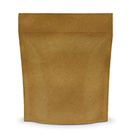 Kraft Coloured Smell Proof Mylar Bags for packaging Cannabis in Canada
