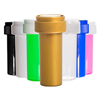 8 Dram Reversible Cap Vials to store and sell medical marijuana